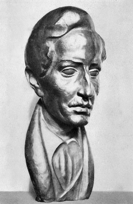 Ernst Penzoldt: August Graf von Platen, 1925. Büste, Bronze, h: 50,5 cm